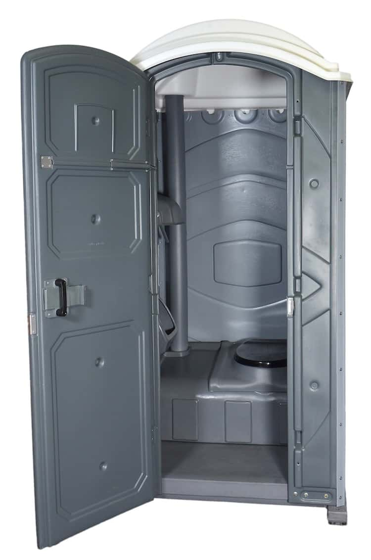 Flat-Packed Range Ultra Mobile Toilet - Interior View Front