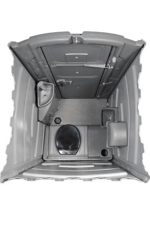 Flat-Packed Range Ultra Mobile Toilet - Interior View Top